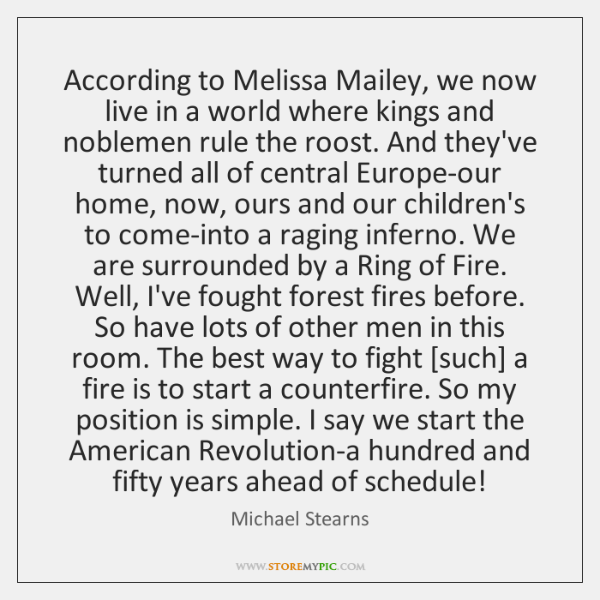 According to Melissa Mailey, we now live in a world where kings ...