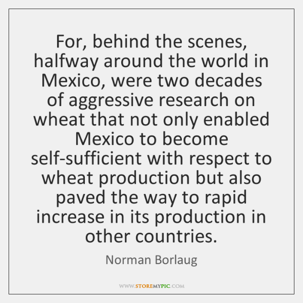 For, behind the scenes, halfway around the world in Mexico, were two ...