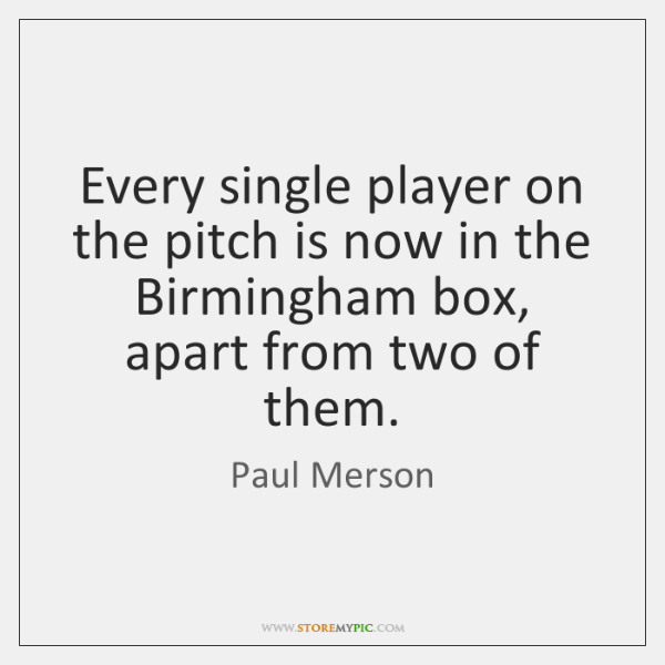 Every single player on the pitch is now in the Birmingham box, ...