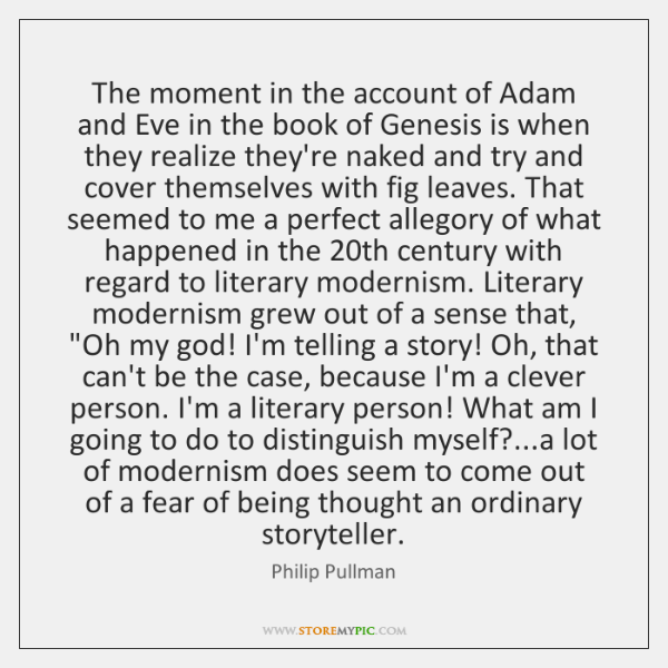The moment in the account of Adam and Eve in the book ...