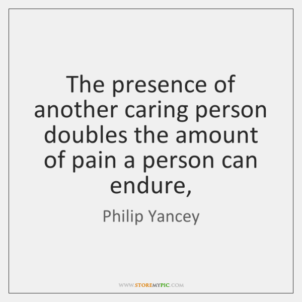 The presence of another caring person doubles the amount of pain a ...