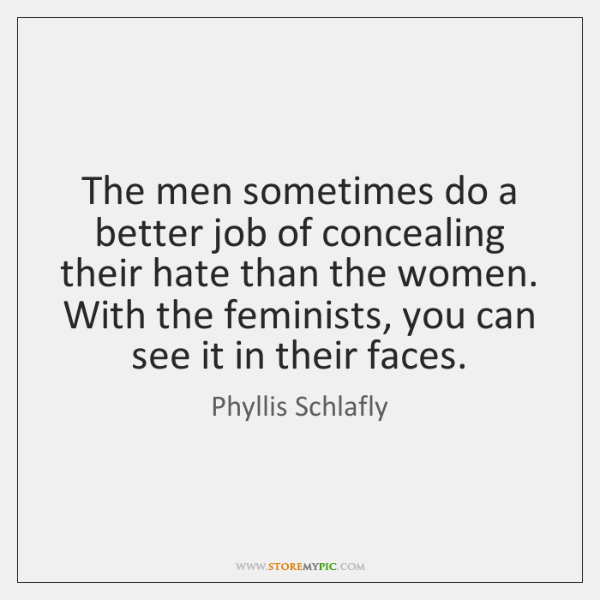 The men sometimes do a better job of concealing their hate than ...