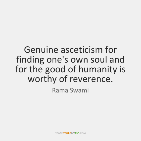 Genuine asceticism for finding one's own soul and for the good of ...