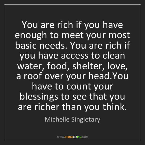 Michelle Singletary: You are rich if you have enough to meet your most basic...