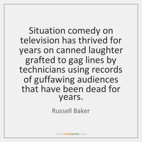 Situation comedy on television has thrived for years on canned laughter grafted ...