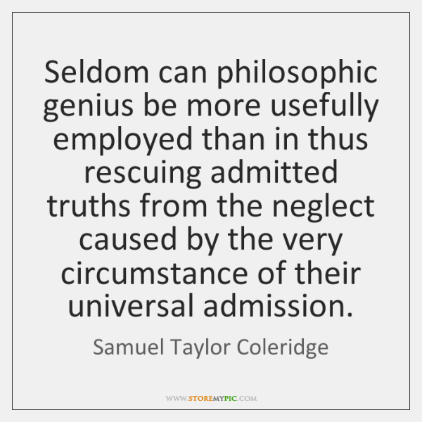 Seldom can philosophic genius be more usefully employed than in thus rescuing ...