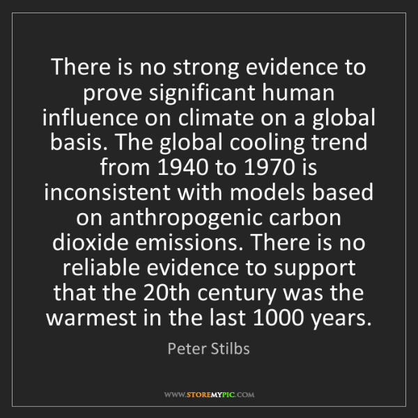 Peter Stilbs: There is no strong evidence to prove significant human...
