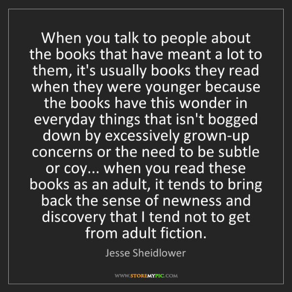 Jesse Sheidlower: When you talk to people about the books that have meant...