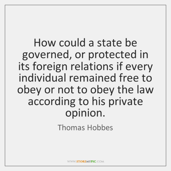 How could a state be governed, or protected in its foreign relations ...