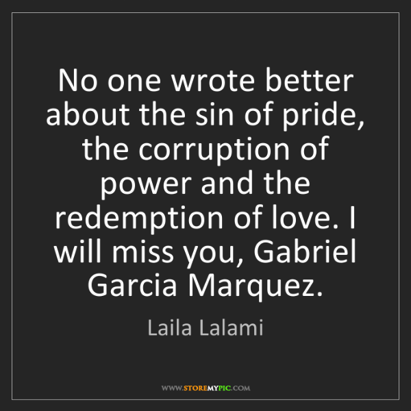 Laila Lalami: No one wrote better about the sin of pride, the corruption...
