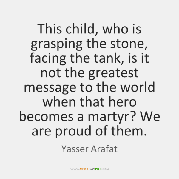 This child, who is grasping the stone, facing the tank, is it ...