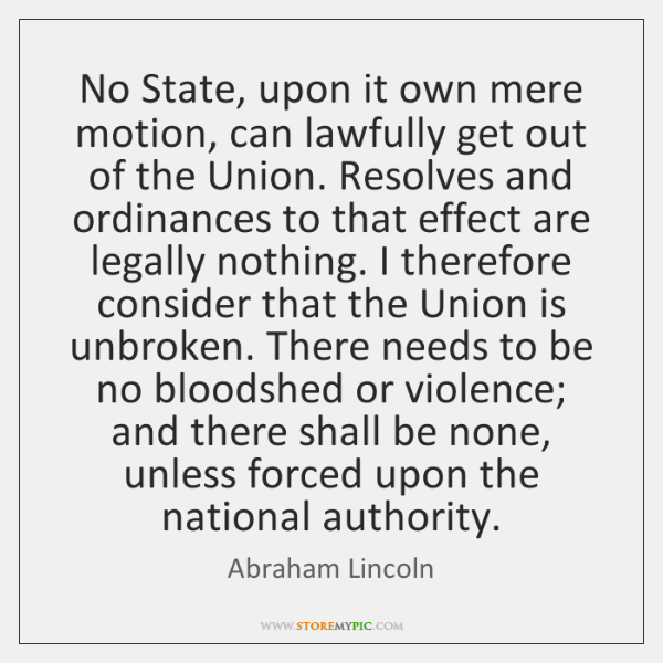 No State, upon it own mere motion, can lawfully get out of ...