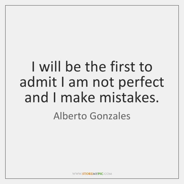 I will be the first to admit I am not perfect and ...