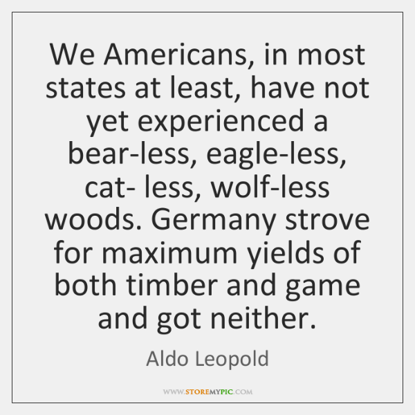 We Americans, in most states at least, have not yet experienced a ...