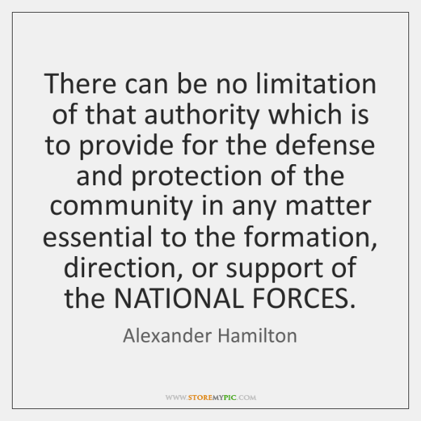 There can be no limitation of that authority which is to provide ...
