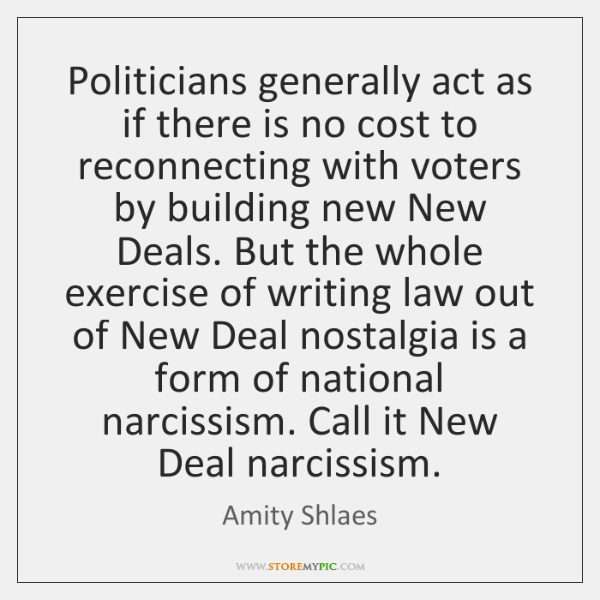 Politicians generally act as if there is no cost to reconnecting with ...