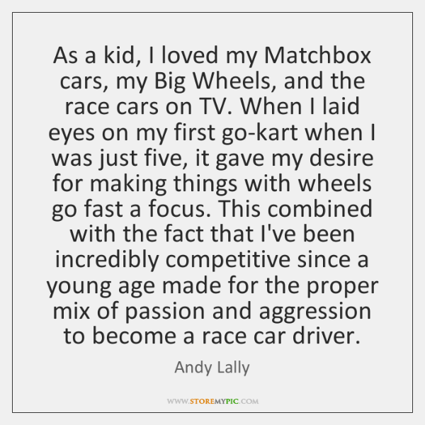 As a kid, I loved my Matchbox cars, my Big Wheels, and ...