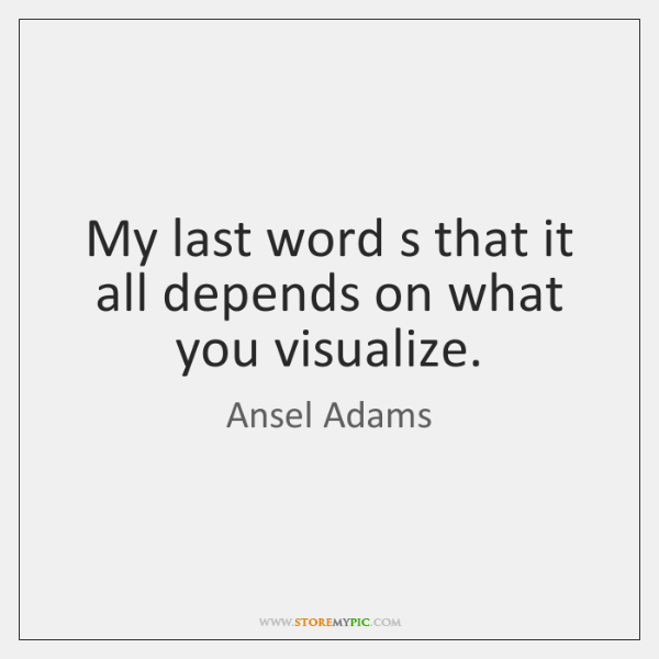 My last word s that it all depends on what you visualize.