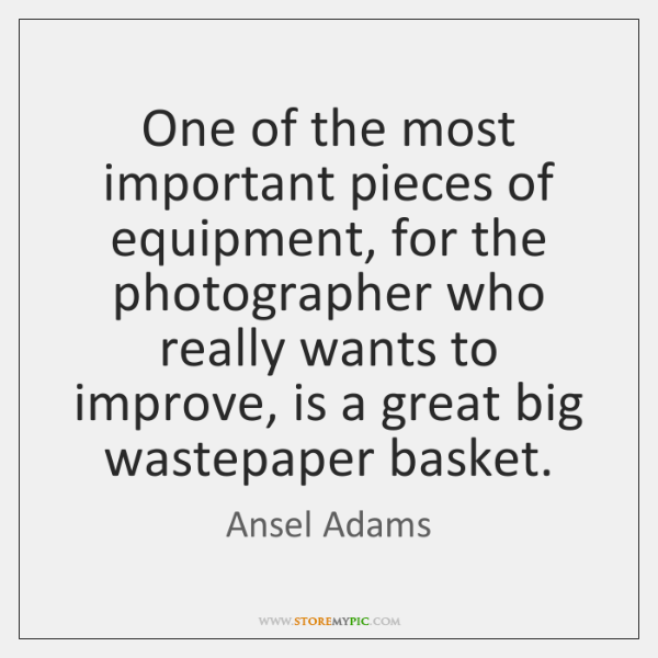 One of the most important pieces of equipment, for the photographer who ...