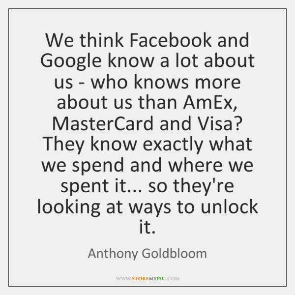 We think Facebook and Google know a lot about us - who ...