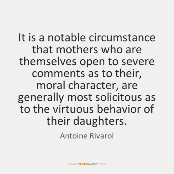 It is a notable circumstance that mothers who are themselves open to ...