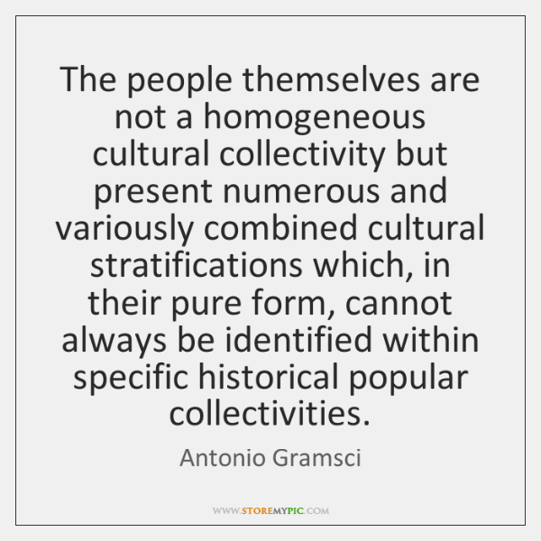 The people themselves are not a homogeneous cultural collectivity but present numerous ...