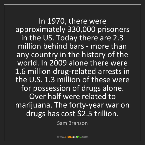 Sam Branson: In 1970, there were approximately 330,000 prisoners in...