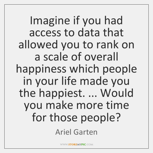 Imagine if you had access to data that allowed you to rank ...