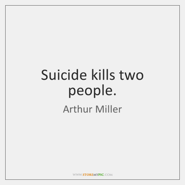 Suicide kills two people.