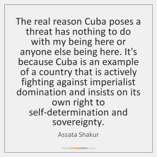 The real reason Cuba poses a threat has nothing to do with ...