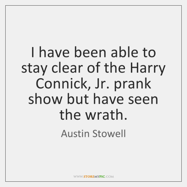 I have been able to stay clear of the Harry Connick, Jr. ...