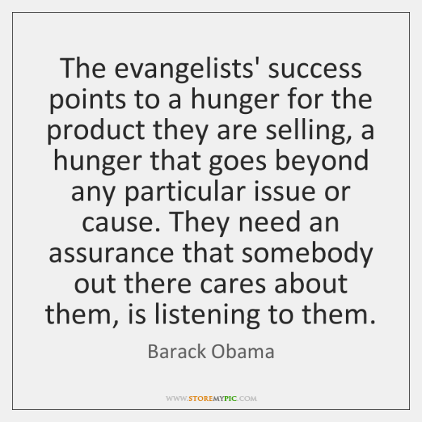 The evangelists' success points to a hunger for the product they are ...