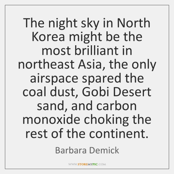 The night sky in North Korea might be the most brilliant in ...