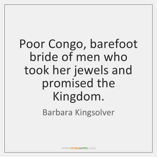 Poor Congo, barefoot bride of men who took her jewels and promised ...