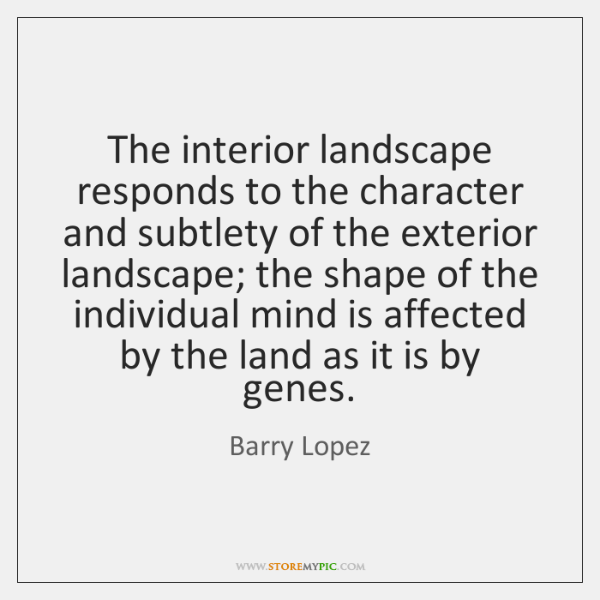 The interior landscape responds to the character and subtlety of the exterior ...