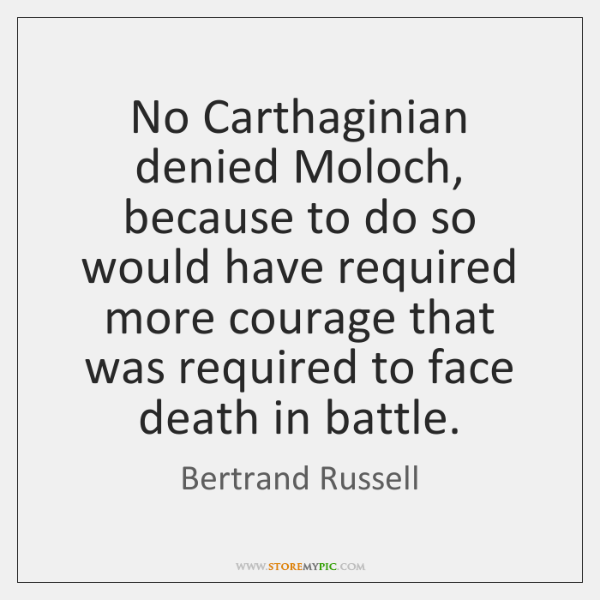 No Carthaginian denied Moloch, because to do so would have required more ...