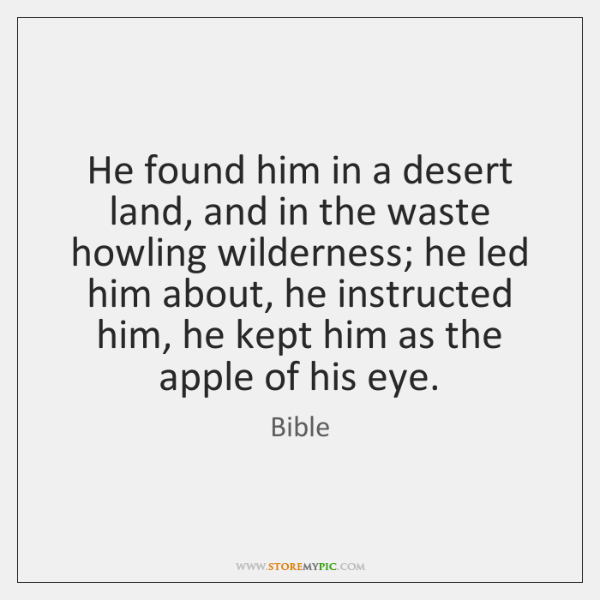 He found him in a desert land, and in the waste howling ...