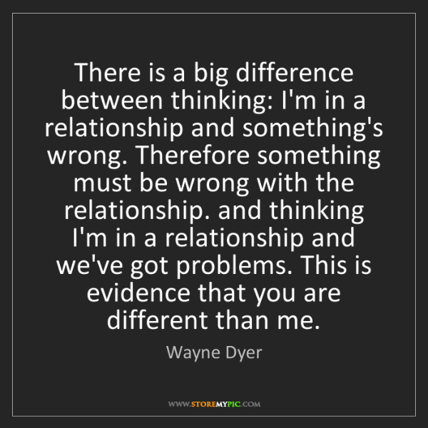 Wayne Dyer: There is a big difference between thinking: I'm in a...