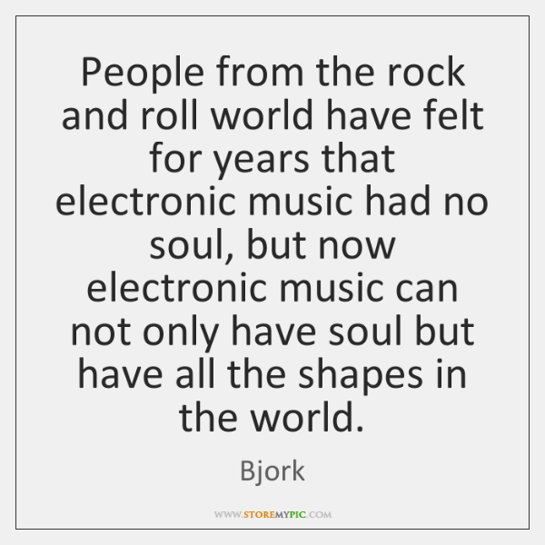 People from the rock and roll world have felt for years that ...