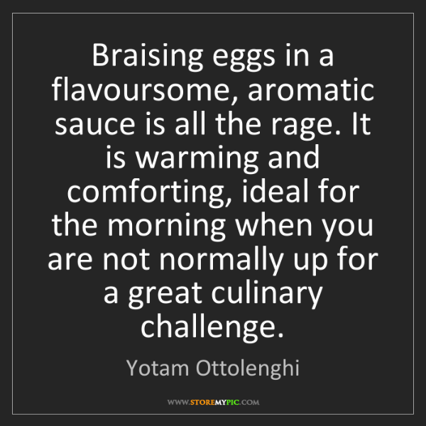 Yotam Ottolenghi: Braising eggs in a flavoursome, aromatic sauce is all...