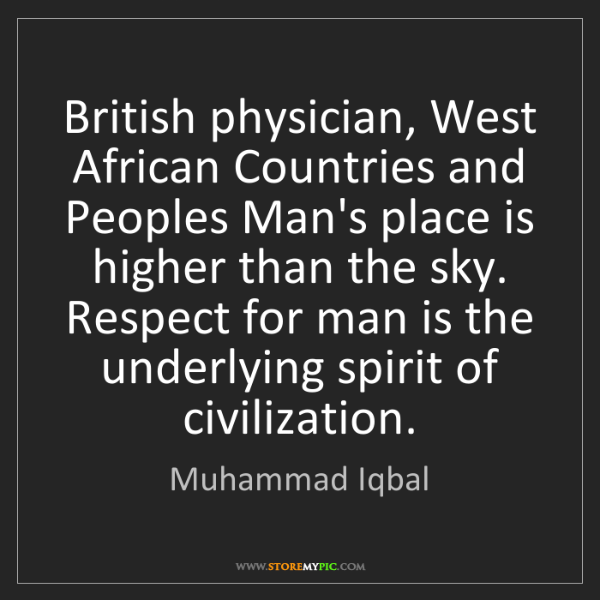 Muhammad Iqbal: British physician, West African Countries and Peoples...