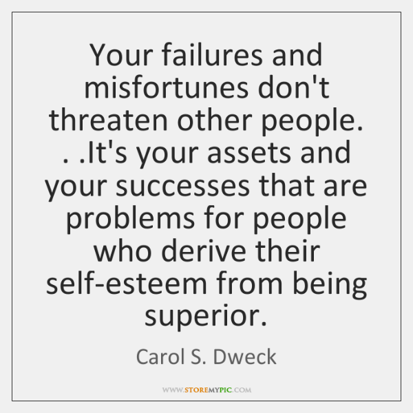 Your failures and misfortunes don't threaten other people. . .It's your assets and ...
