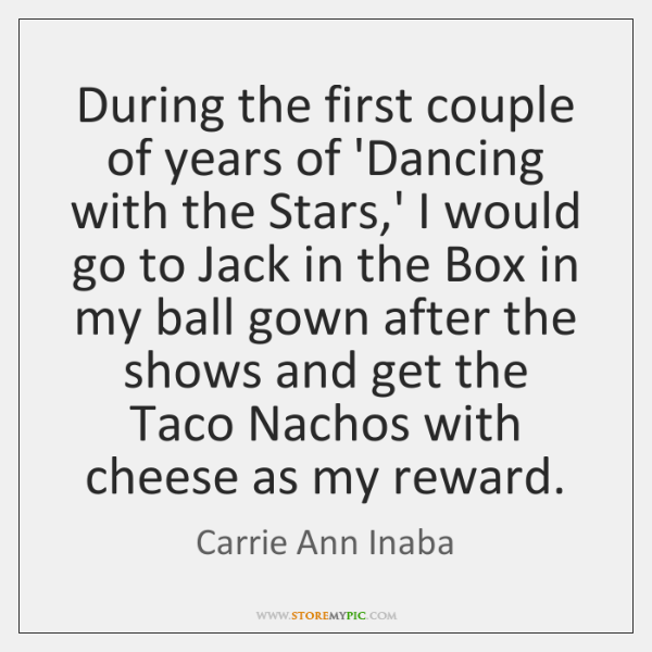 During the first couple of years of 'Dancing with the Stars,' ...