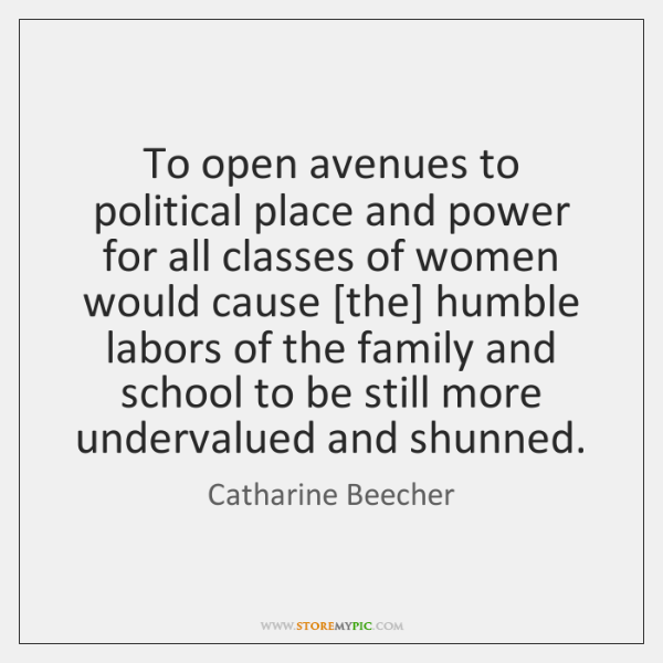 To open avenues to political place and power for all classes of ...