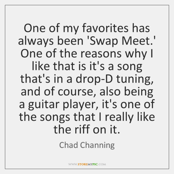 One of my favorites has always been 'Swap Meet.' One of ...