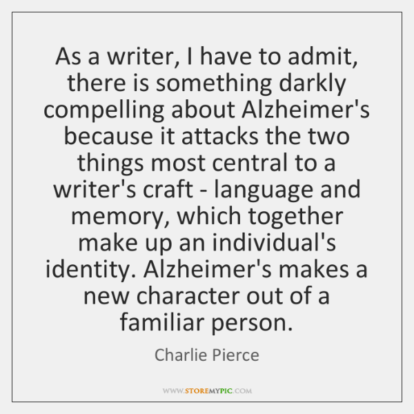 As a writer, I have to admit, there is something darkly compelling ...