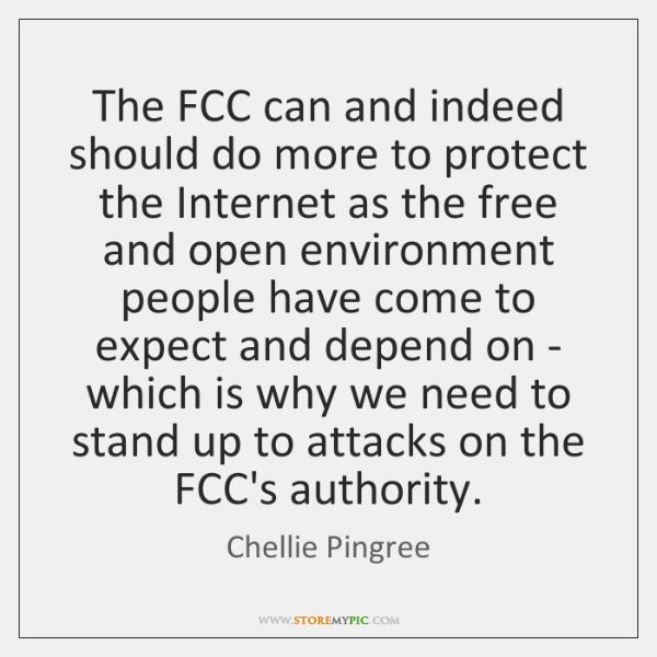The FCC can and indeed should do more to protect the Internet ...