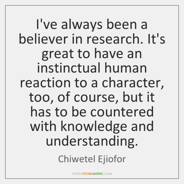 I've always been a believer in research. It's great to have an ...