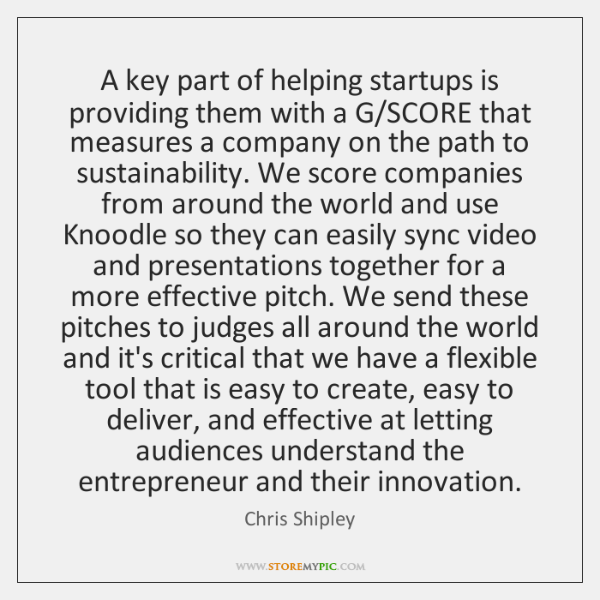 A key part of helping startups is providing them with a G/...