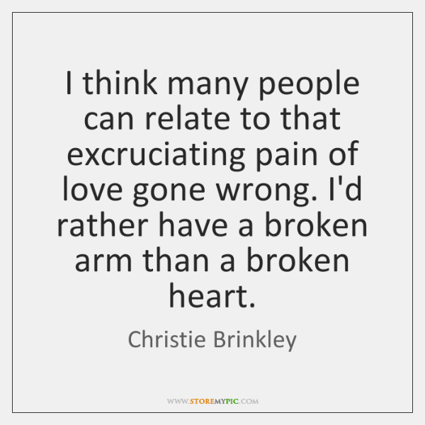 I think many people can relate to that excruciating pain of love ...